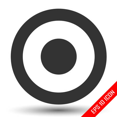 Target icon. Simple flat logo of target on white background. Vector illustration.