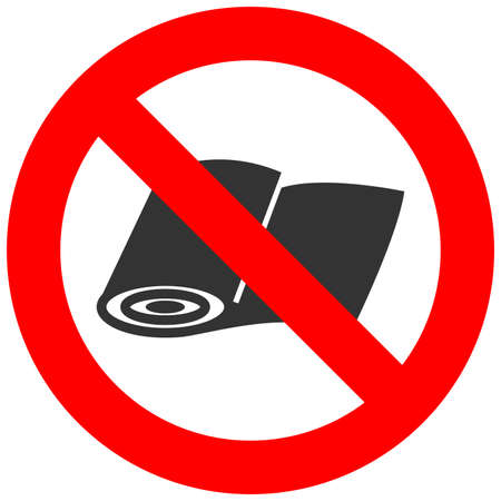 Forbidden sign with textile icon isolated on white background. Cloth is prohibited vector illustration. Using cloth is not allowed image. Cloths are banned.