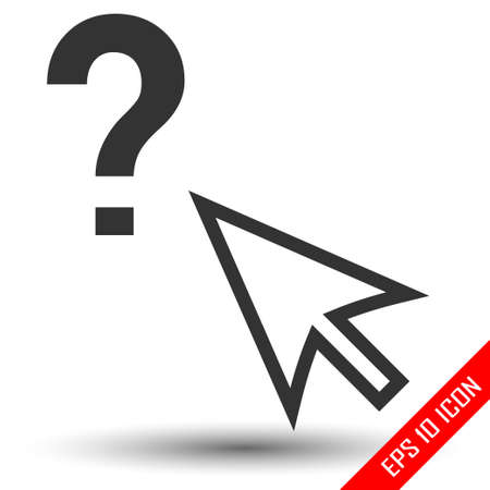 Arrow with question mark. Decision making isolated on a white background. Question mark. Vector illustration.
