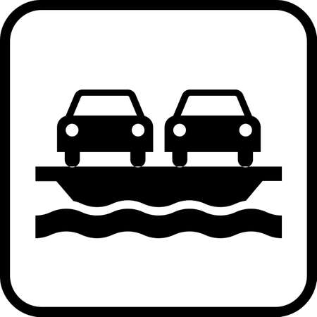 Ferry Icon. Water transport vector illustration.