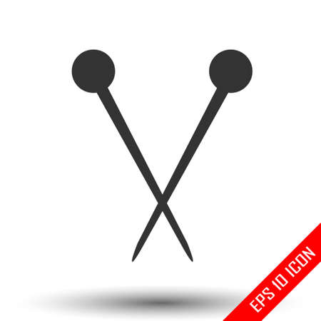 Hair pins icon. Simple flat of hair pins isolated on white background. Vector illustration.