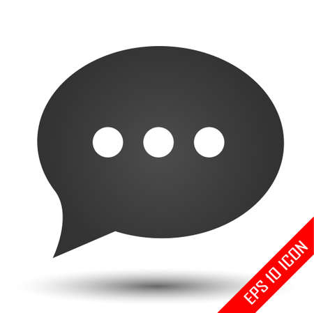 Chat icon. Active chat sign. Simple flat of chat on white background. Vector illustration. Vettoriali