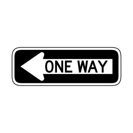 Vector One Way Sign Icon Vettoriali
