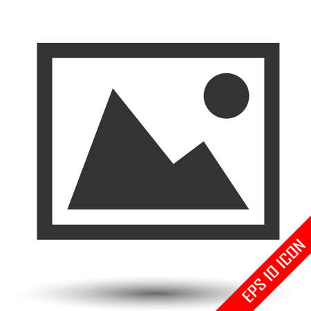 Picture icon. Picture sign. Simple flat of picture on white background. Vector illustration. Archivio Fotografico - 112446810