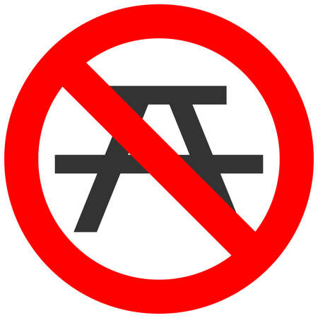 No bivouac, camping, tent and camp prohibited symbol. Sign indicating the prohibition or rule. Warning and forbidden. Flat design. Do not camp vector illustration.
