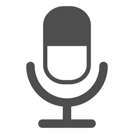 Microphone Icon vector flat design Stock Illustratie