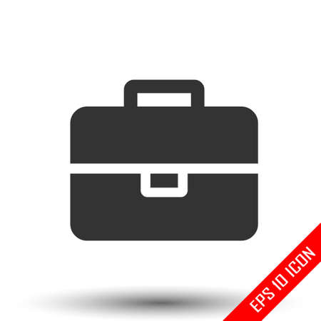 Suitcase icon. travel baggage vector icon. Suitcase flat isolated on white background. Vector illustration.