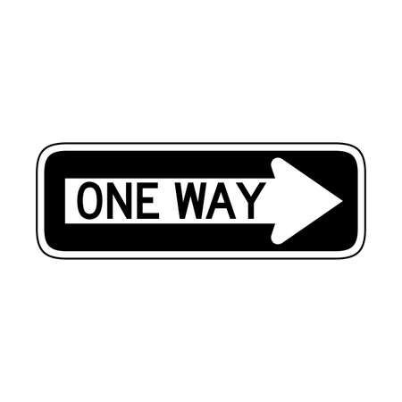 Vector One Way Sign Icon Stock Illustratie