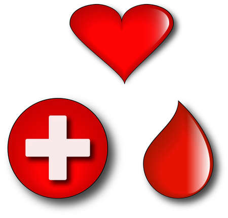 consepts of blood donation Vector
