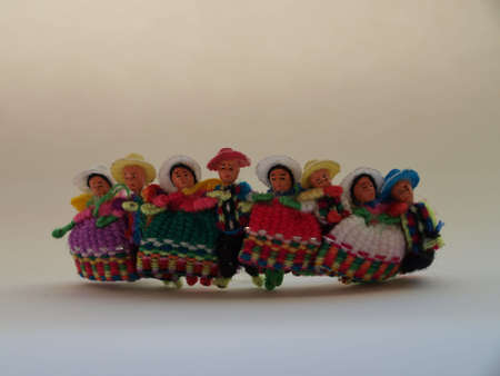 incan: Toy andean dancers Stock Photo