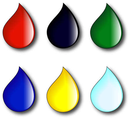 rainwater: Drops of colorful paint