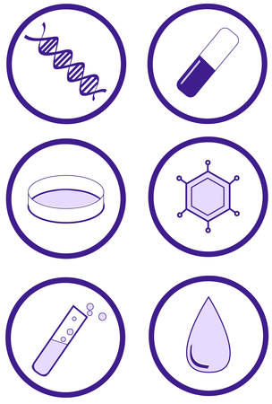 Clinical health and laboratory research item set Vector