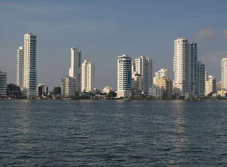 panama city beach: Architecture in Cartagena new district Stock Photo