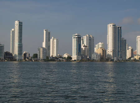 panama city beach: Architettura nel nuovo quartiere di Cartagena Archivio Fotografico