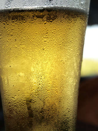 barley head: Beer glass with dew
