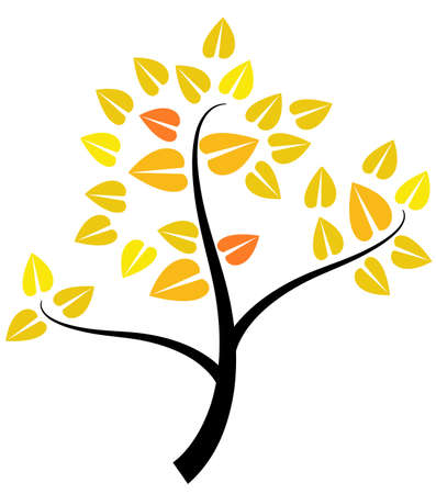 Creative tree symbol Vector