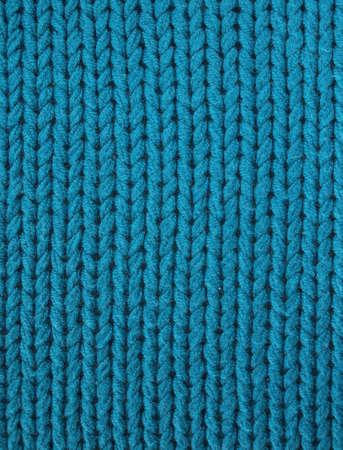 wool fiber: Tejido de punto en azul el�ctrico turquesa Foto de archivo
