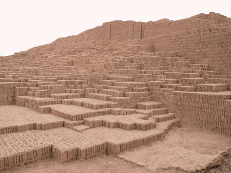lima: Ancient pyramid in Lima, Peru Stock Photo