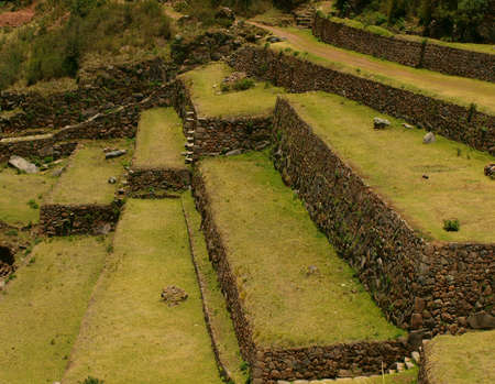 urubamba valley: Inca agriculture terraces and stairs