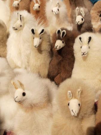 llama: Handmade Andean llama dolls