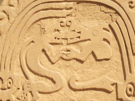 chan: Symbols in ancient temple in Trujillo Peru