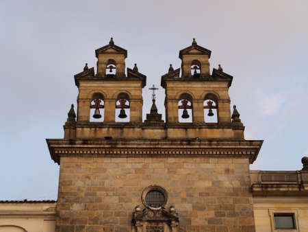Cathedral bell tower detail  Colombia, Bogota, Bolivar square photo