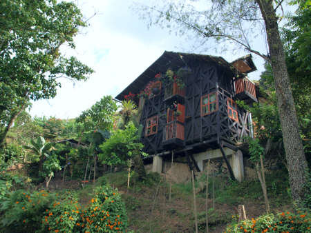 rural community: German style cottage in Salento touristic region of Colombia Editorial