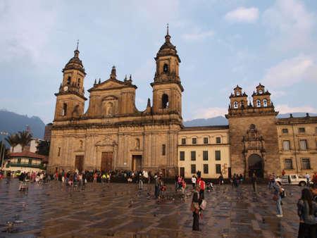 neoclassic: Cathedral square architecture in Bogota Editorial