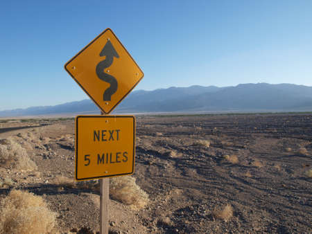 Road sign in death valley photo
