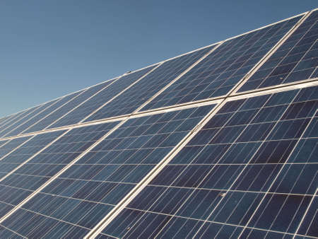 viewfinderchallenge3: Solar power panels on sunny day Stock Photo