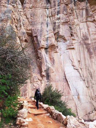 Climbing up the Grand Canyon trail