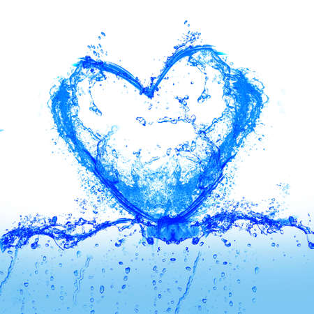 warmly: heart and water Stock Photo