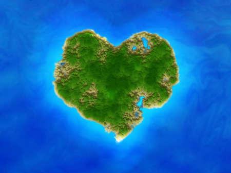 heart island         photo