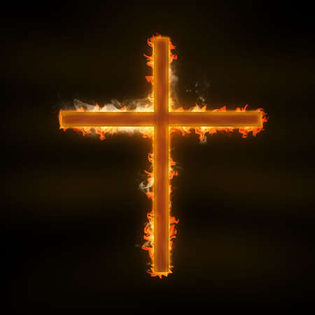 christian halloween: cross Stock Photo