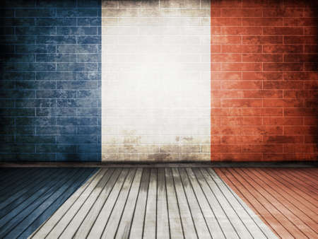 brick and mortar: france flag