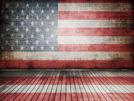 symbol mortar: usa flag Stock Photo