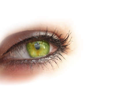 royalty free: Womans eye close