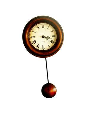 stock photo: wooden clock Stock Photo