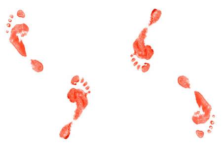 newborn footprint: foot print  Stock Photo