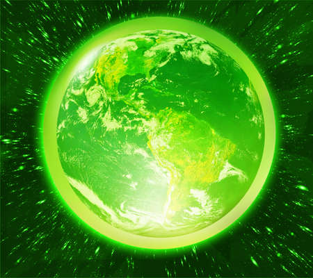 satelite: green earth