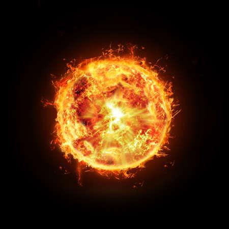 "słońce: Abstrakcyjnej sÅ'oÅ""ce na czarnym tle"