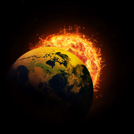 heat radiation: sun and the earth