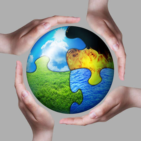 four elements between our hands photo