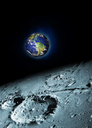earth and moon Stock Photo - 8164205