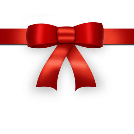 red bow: Red bow on white
