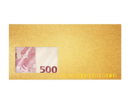 Money in envelop photo