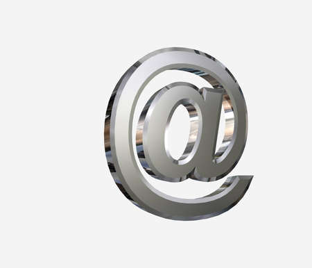 arobase: chrome-plated AT symbol