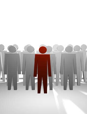 queue: leader Stock Photo