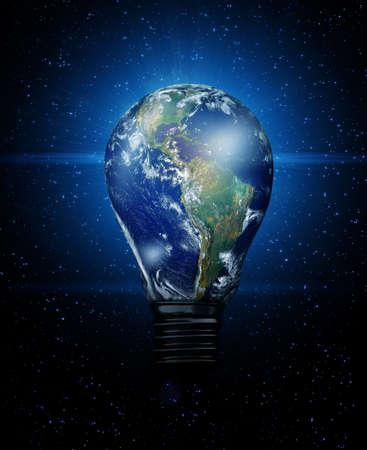 Earth Bulb Stock Photo - 9014040