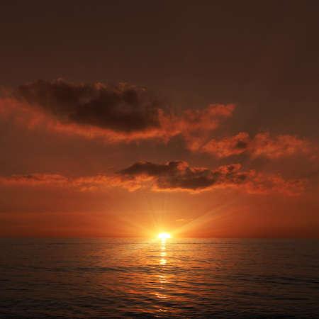 romantic picture: sunset